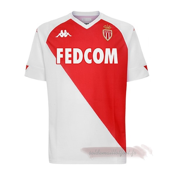 Tee Shirt Foot Pas Cher Kappa Domicile Maillot AS Monaco 2020 2021 Rouge Blanc