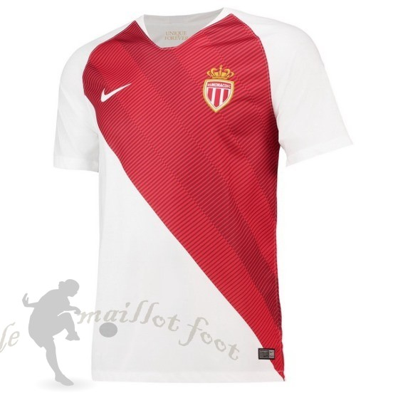 Tee Shirt Foot Pas Cher Nike Domicile Maillot As Monaco 2018 2019 Blanc