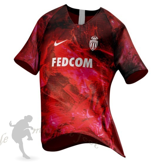 Tee Shirt Foot Pas Cher Nike Ea Sport Maillot As Monaco 2018 2019 Rouge