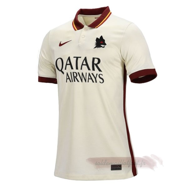 Tee Shirt Foot Pas Cher Nike Exterieur Maillot Femme As Roma 2020 2021 Blanc