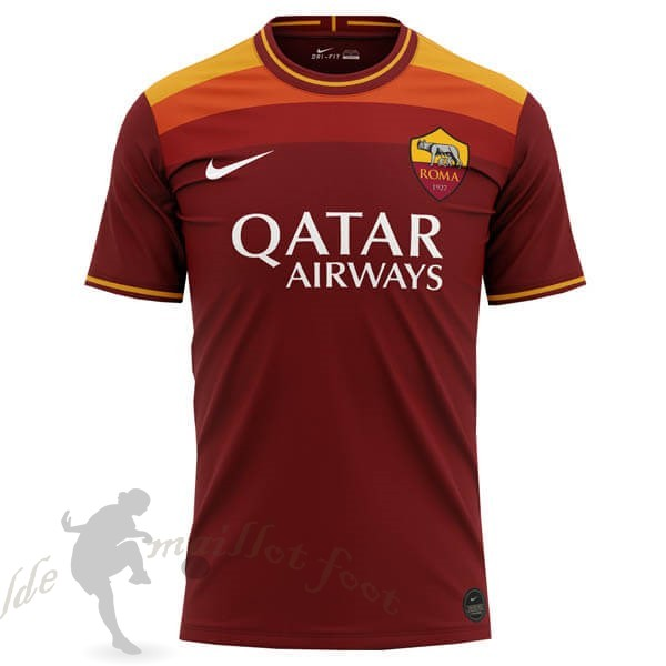 Tee Shirt Foot Pas Cher Nike Concept Domicile Maillot Roma 2020 2021 Orange