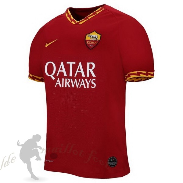 Tee Shirt Foot Pas Cher Nike Domicile Maillot As Roma 2019 2020 Rouge