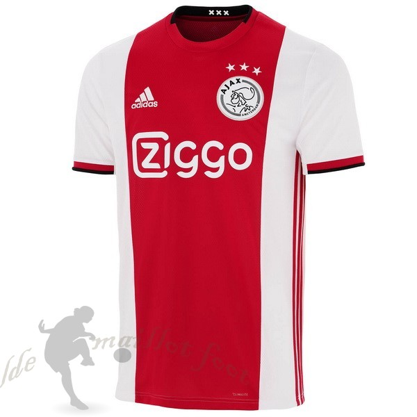 Tee Shirt Foot Pas Cher adidas Domicile Maillot Ajax 2019 2020 Rouge