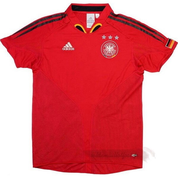 Tee Shirt Foot Pas Cher adidas Exterieur Maillot Allemagne Retro 2004 2006 Rouge