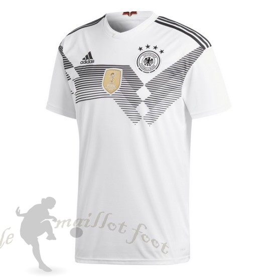 Tee Shirt Foot Pas Cher Adidas Thailande Domicile Maillot Allemagne 2018 Blanc