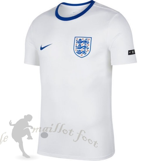 Tee Shirt Foot Pas Cher Nike Entrainement Angleterre 2018 Blanc Bleu