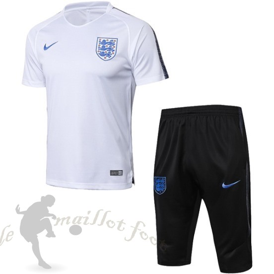 Tee Shirt Foot Pas Cher Nike Entrainement Ensemble Complet Angleterre 2018 Blanc