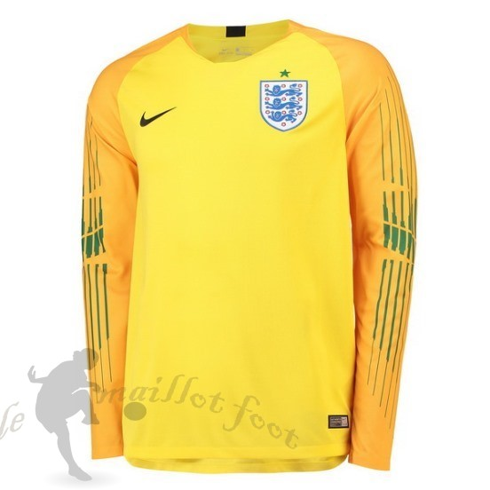 Tee Shirt Foot Pas Cher Nike Manches Longues Gardien Angleterre 2018 Jaune