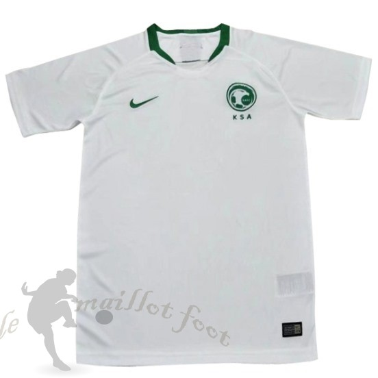 Tee Shirt Foot Pas Cher Nike Domicile Maillot Arabie Saoudite 2018 Blanc