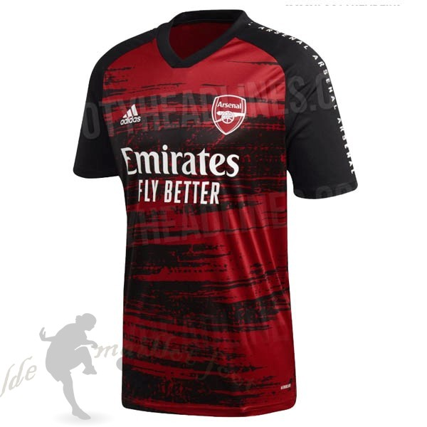 Tee Shirt Foot Pas Cher adidas Pre Match Maillot Arsenal 2020 2021 Rouge