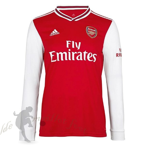 Tee Shirt Foot Pas Cher adidas Domicile Manches Longues Arsenal 2019 2020 Rouge