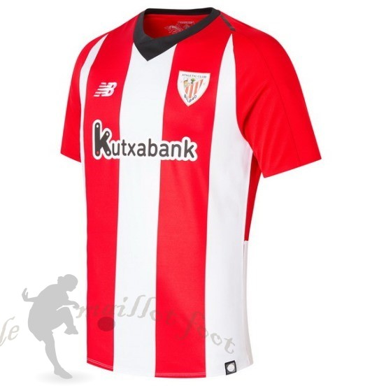 Tee Shirt Foot Pas Cher New Balance Domicile Maillot Athletic Bilbao 2018 2019 Rouge Blanc