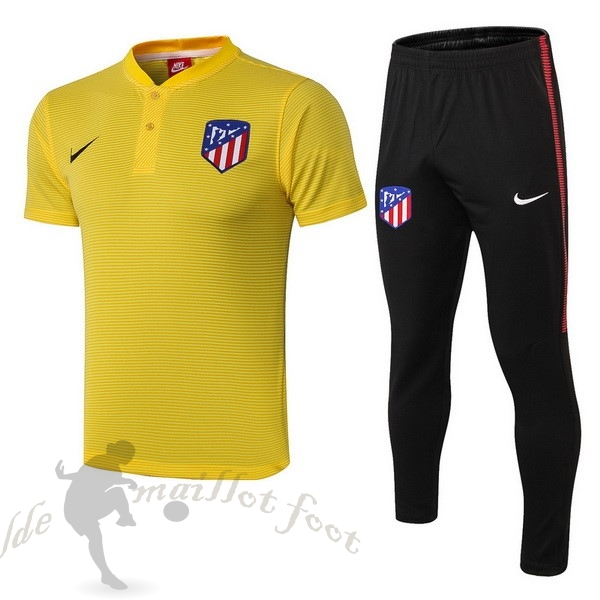 Tee Shirt Foot Pas Cher Nike Ensemble Polo Atlético De Madrid 2018 2019 Jaune