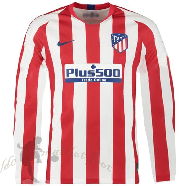 Tee Shirt Foot Pas Cher Nike Domicile Manches Longues Atlético Madrid 2019 2020 Rouge