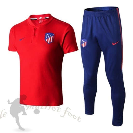 Tee Shirt Foot Pas Cher Nike Ensemble Complet Polo Atlético De Madrid 2018 2019 Rouge