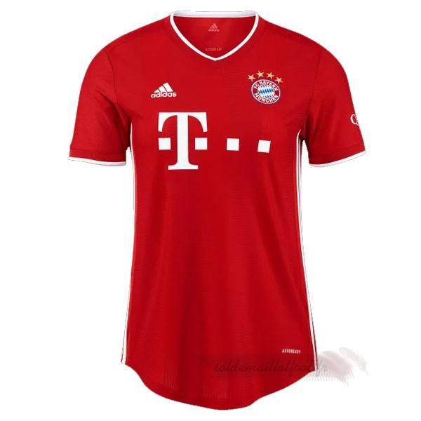 Tee Shirt Foot Pas Cher adidas Domicile Maillot Mujer Bayern Munich 2020 2021 Rouge