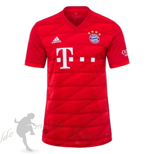 Tee Shirt Foot Pas Cher adidas Domicile Maillot Bayern Munich 2019 2020 Rouge
