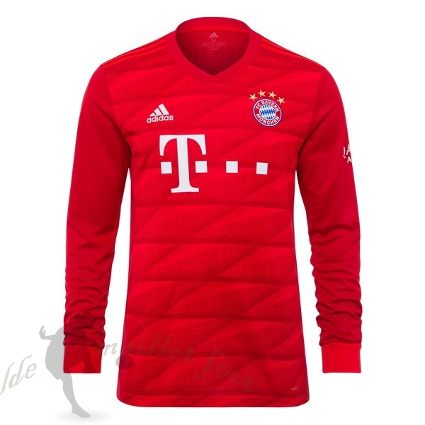Tee Shirt Foot Pas Cher adidas Domicile Manches Longues Bayern Munich 2019 2020 Rouge