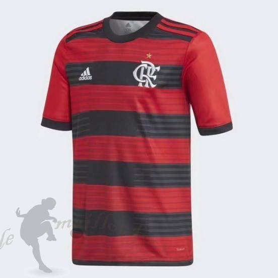 Tee Shirt Foot Pas Cher Adidas Domicile Maillot Cr Flamengo 2018 2019 Rouge