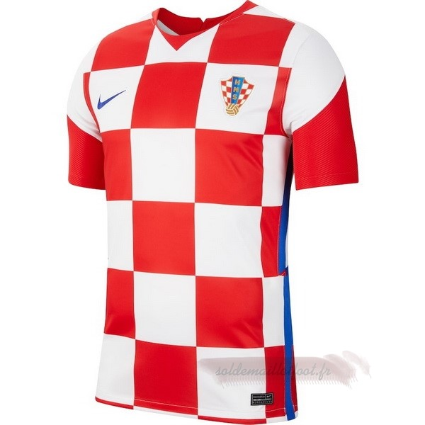 Tee Shirt Foot Pas Cher Nike Domicile Maillot Croatie 2020 Rouge