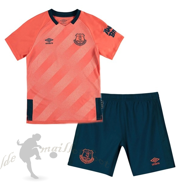 Tee Shirt Foot Pas Cher Umbro Exterieur Ensemble Enfant Everton 2019 2020 Orange