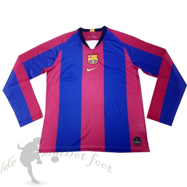 Tee Shirt Foot Pas Cher Nike Maillot Manches Longues Barcelona 120th Bleu Rouge