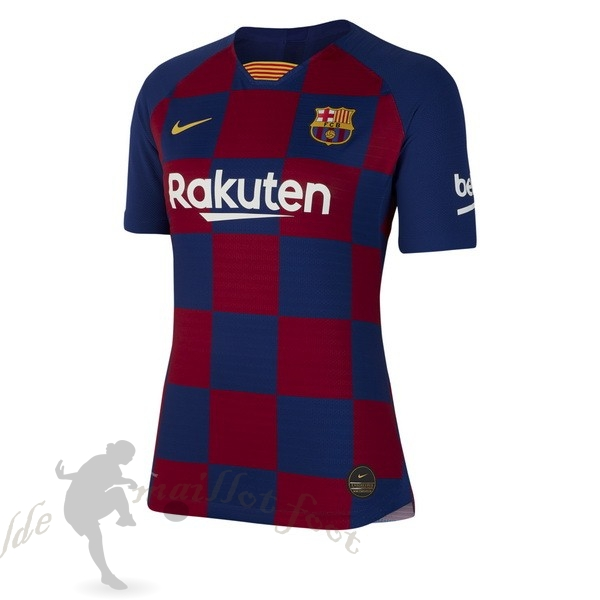 Tee Shirt Foot Pas Cher Nike Domicile Maillot Femme Barcelone 2019 2020 Bleu Rouge