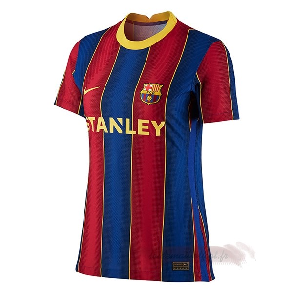 Tee Shirt Foot Pas Cher Nike Domicile Maillot Femme Barcelone 2020 2021 Bleu Rouge