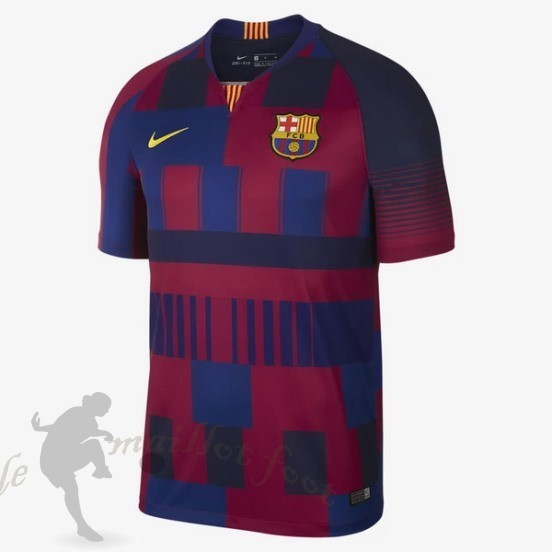 Tee Shirt Foot Pas Cher Nike Maillot Barcelona 20Th Bleu Rouge