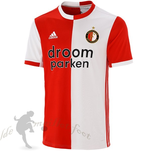Tee Shirt Foot Pas Cher adidas Domicile Maillot Feyenoord Rotterdam 2019 2020 Rouge