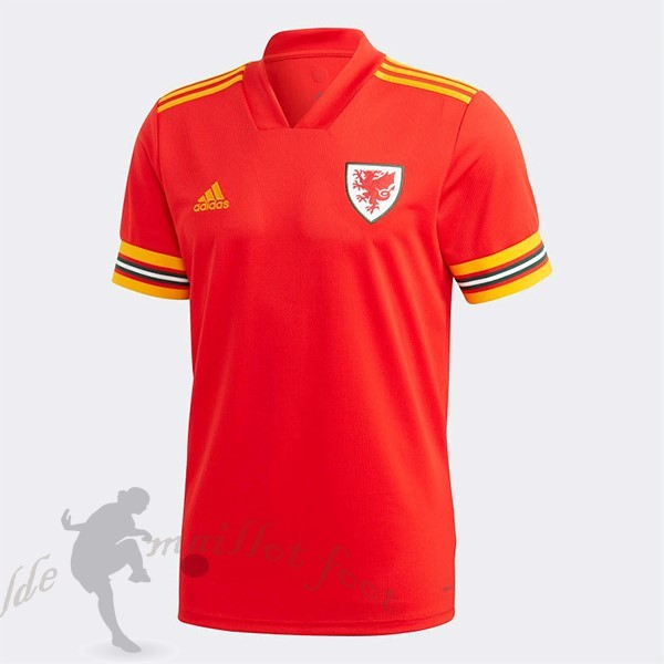 Tee Shirt Foot Pas Cher adidas Domicile Maillot Gales 2020 Rouge