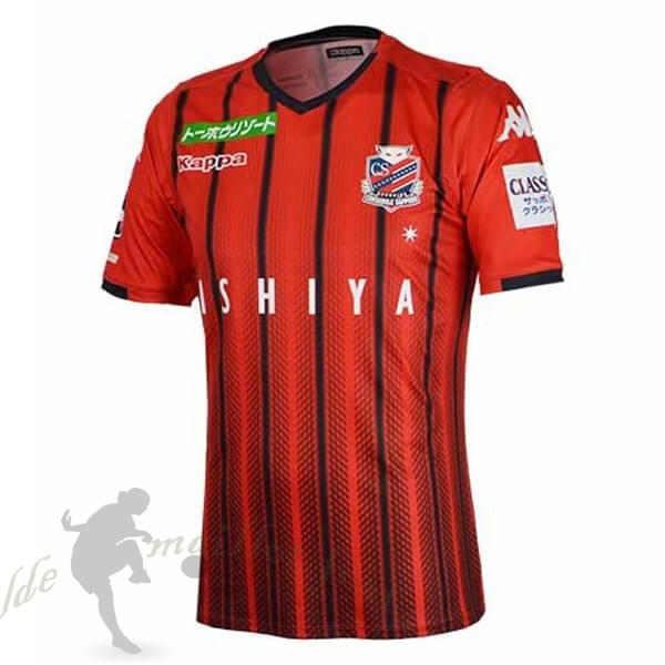 Tee Shirt Foot Pas Cher Kappa Domicile Maillot Hokkaido Consadole SappOr 2019 2020 Rouge