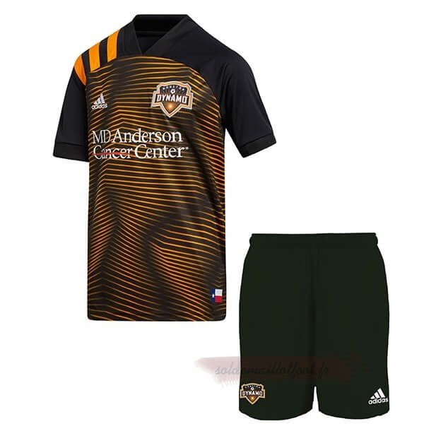 Tee Shirt Foot Pas Cher adidas Exterieur Ensemble Enfant Houston Dynamo 2020 2021 Orange