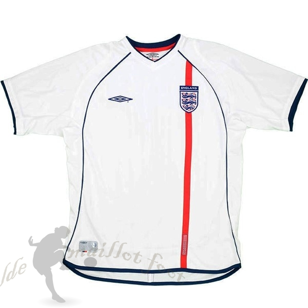 Tee Shirt Foot Pas Cher umbro Domicile Maillot Angleterre Rétro 2002 Blanc