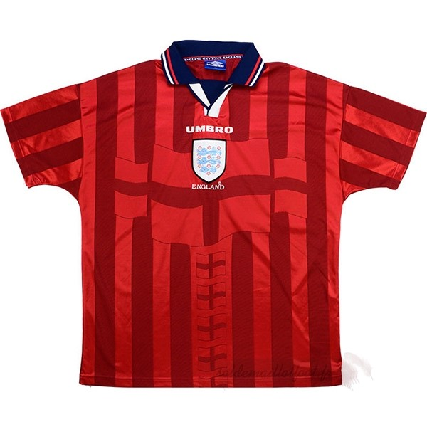 Tee Shirt Foot Pas Cher umbro Exterieur Maillot Angleterre Rétro 1998 Rouge