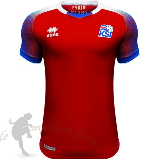 Tee Shirt Foot Pas Cher Adidas Thailande Third Maillot Islande 2018 Rouge