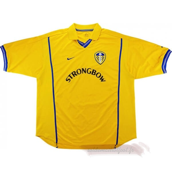 Tee Shirt Foot Pas Cher Nike Domicile Maillot Leeds United Retro 2000 2002 Jaune