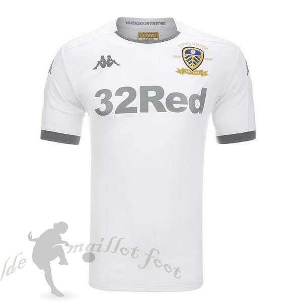 Tee Shirt Foot Pas Cher Kappa Domicile Maillot Leeds United 2019 2020 Blanc