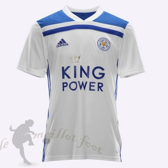 Tee Shirt Foot Pas Cher Adidas Thailande Third Maillot Leicester City 2018 2019 Blanc