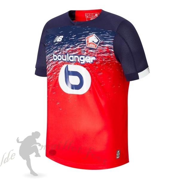 Tee Shirt Foot Pas Cher New Balance Domicile Maillot LOSC 2019 2020 Rouge
