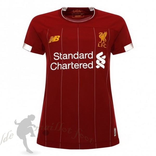 Tee Shirt Foot Pas Cher New Balance Domicile Maillot Femme Liverpool 2019 2020 Rouge