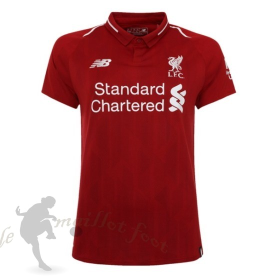 Tee Shirt Foot Pas Cher New Balance Domicile Maillot Femme Liverpool 2018 2019 Rouge