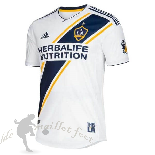 Tee Shirt Foot Pas Cher adidas Domicile Maillot Los Angeles Galaxy 2019 2020 Blanc