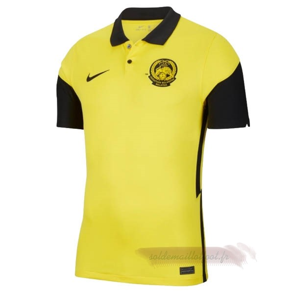Tee Shirt Foot Pas Cher Nike Domicile Maillot Malaisie 2020 Jaune
