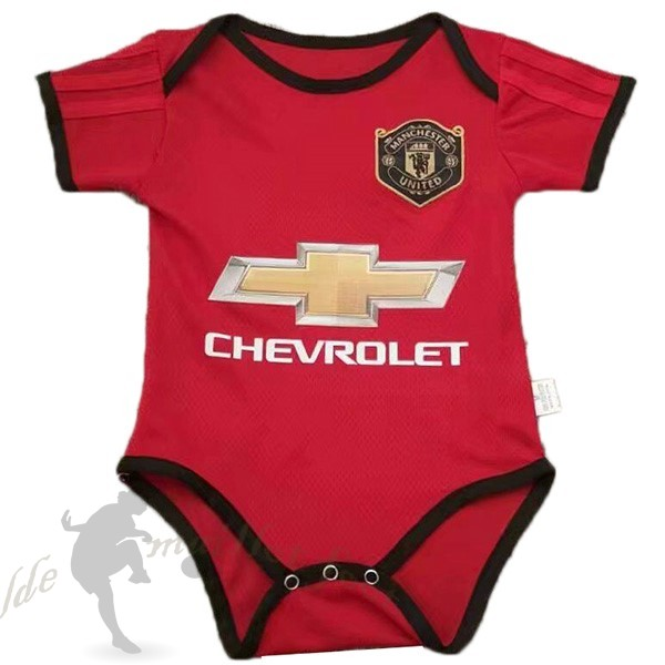 Tee Shirt Foot Pas Cher Adidas Domicile Onesies Enfant Manchester United 2019 2020 Rouge