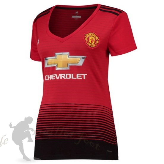 Tee Shirt Foot Pas Cher Adidas Domicile Maillot Femme Manchester United 2018 2019 Rouge