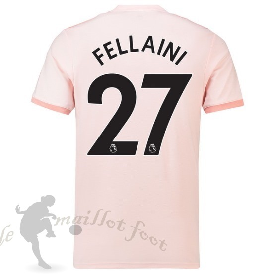 Tee Shirt Foot Pas Cher Adidas No.27 Fellaini Exterieur Maillot Manchester United 2018 2019 Rose