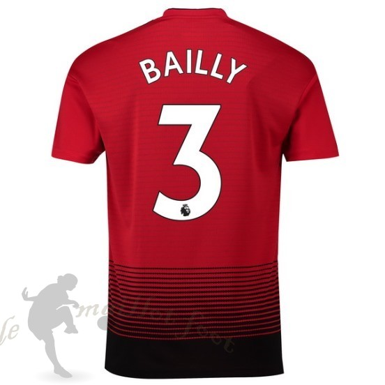 Tee Shirt Foot Pas Cher Adidas No.3 Bailly Domicile Maillot Manchester United 2018 2019 Rouge