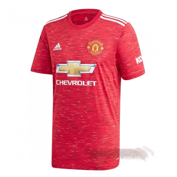 Tee Shirt Foot Pas Cher adidas Domicile Maillot Manchester United 2020 2021 Rouge