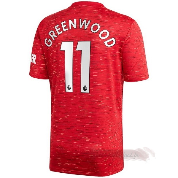Tee Shirt Foot Pas Cher adidas NO.11 Greenwood Domicile Maillot Manchester United 2020 2021 Rouge